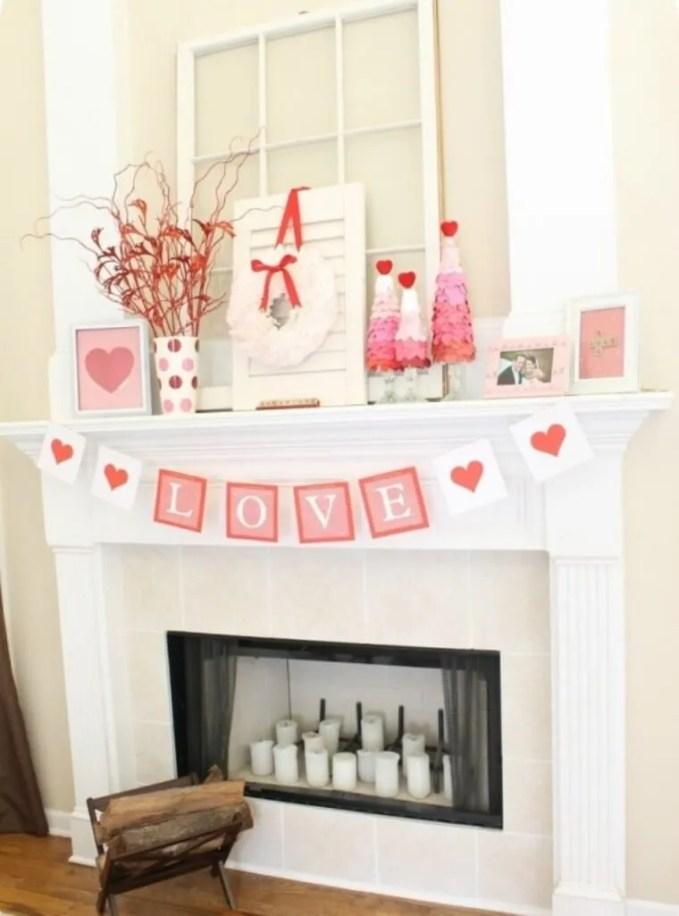 Pink Mantel Decorations