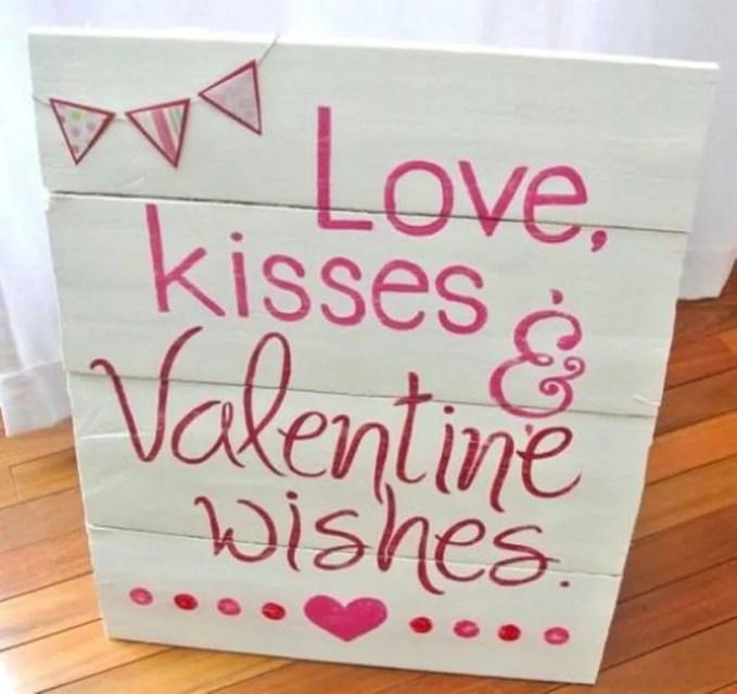 Pink Valentine's Sign