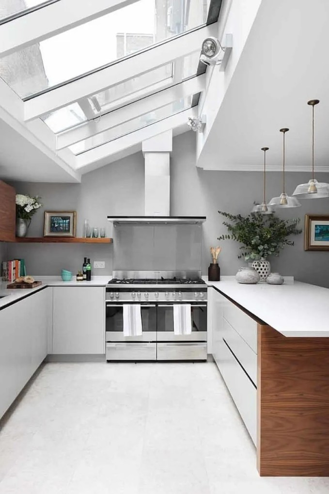Refreshing Kitchen with Skylights