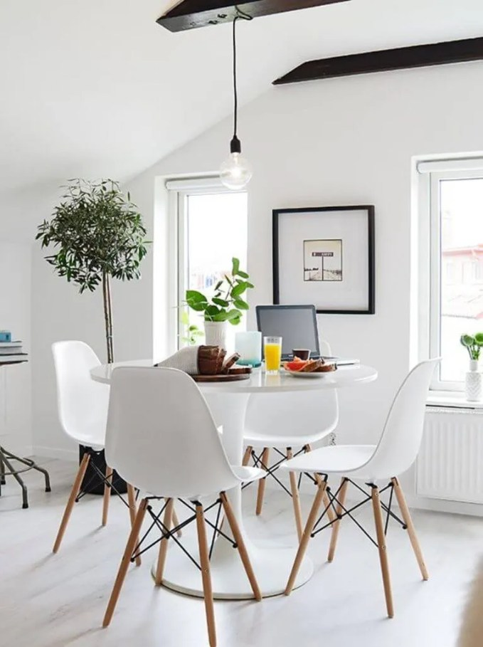 Small High Contrast Dining Room