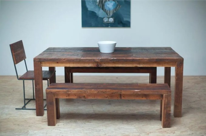 Bold Reclaimed Wood Dining Table