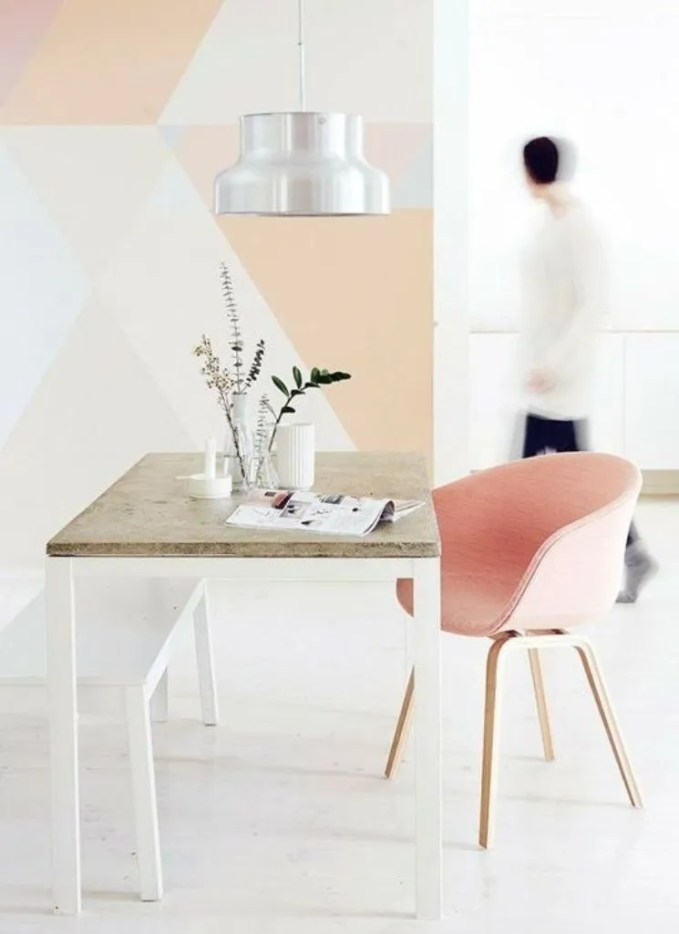 Geomtric Color Block Dining Room
