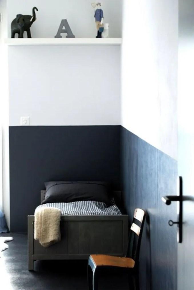 High Contrast Color Block Kid's Bedroom Wall