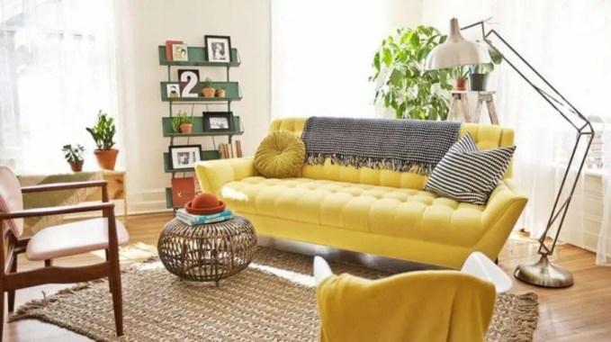 Ligh Yellow Tufted Sofa