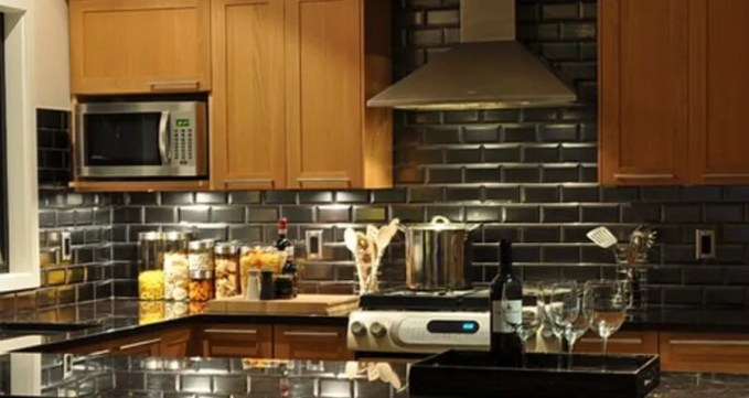 Modern Kitchen with Subway Tile