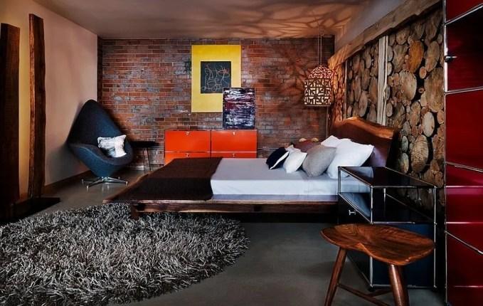 Opulent Indsutrial Chic Bedroom