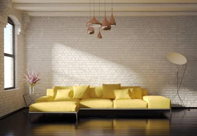 Sectional Lemon Yellow Sofa