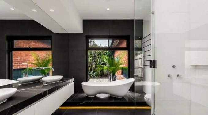 Sharp High Contrast Bathroom