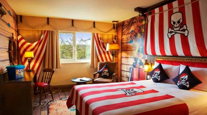 Striped Pirate Themed Kid's Bedroom