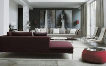 Hot Red Marsala Accent in 10 Living Room Designs