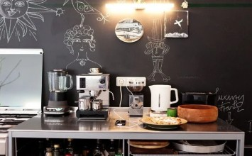 9 Super-Cool Kitchen Designs with Chalkboard Wall