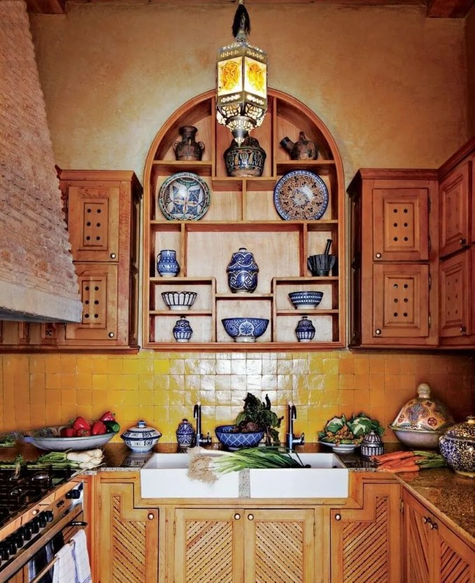 Lively Exotic Kitchen Design