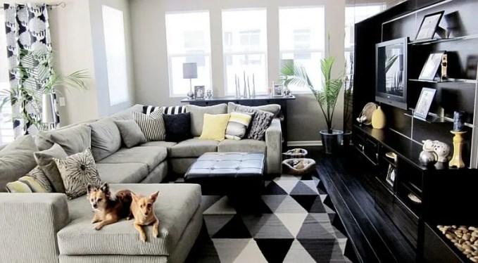Modern Black and White Living Room