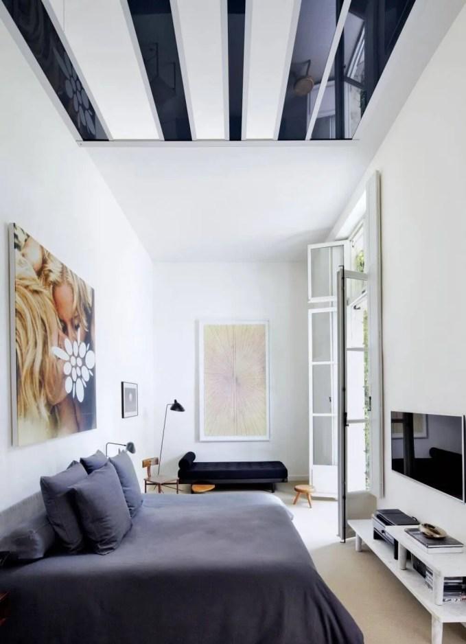 Naroooe White Contempoary Bedroom