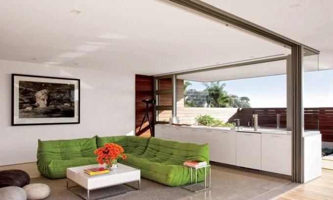 Sleek High Contrast Living Room