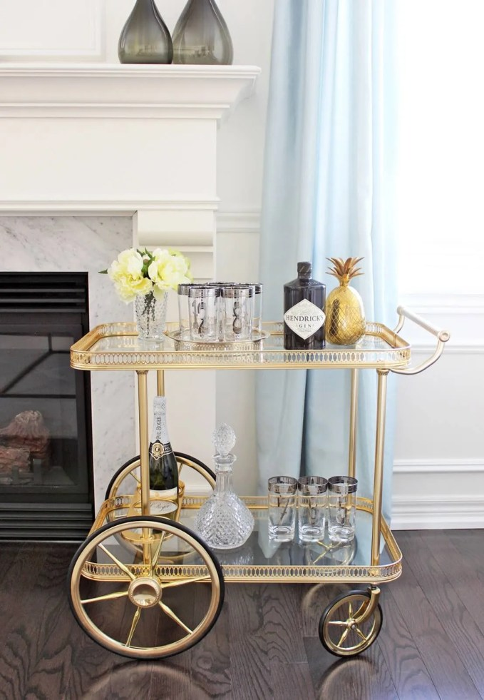 Vintage STyle Bar Cart