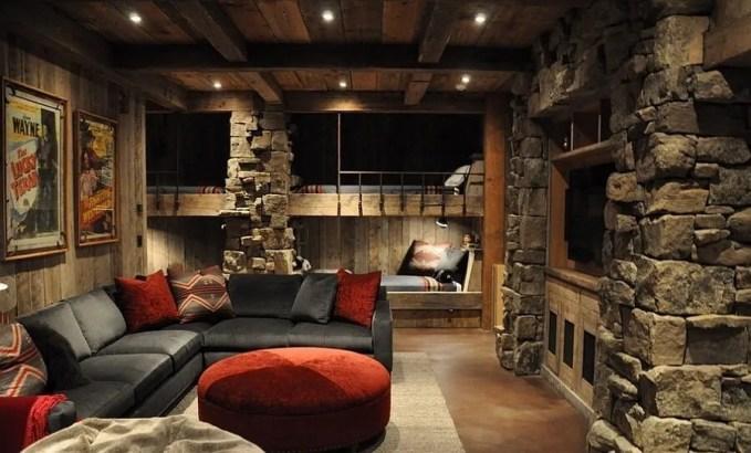 Winter-cabin-inspired-kids-bedroom-with-bunk-beds
