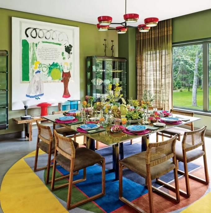 Amazing Colorful Dining Room