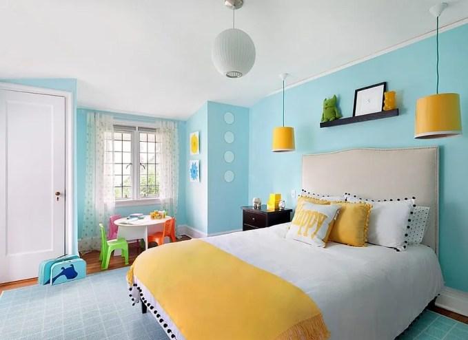 Amazing Yellow and Blue Bedroom