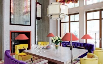 10 Contemporary Colorful Dining Room Designs