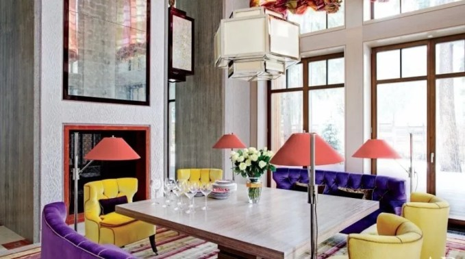 Beautiful Colorful Dining Room
