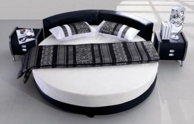 Black Round Bed