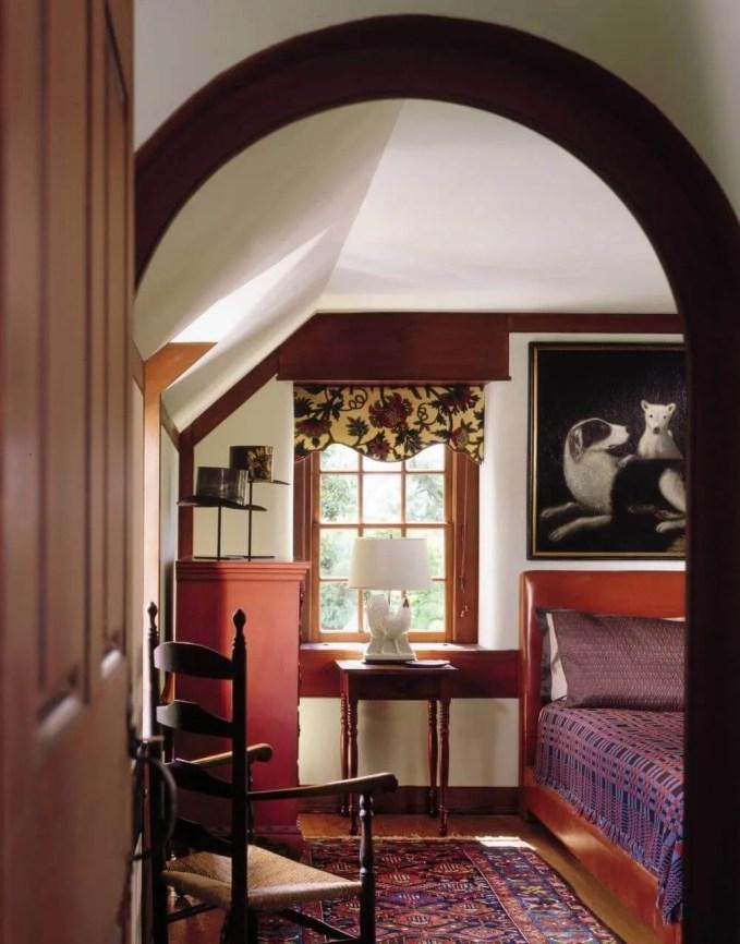 Bold Serene Farmhouse Bedroom