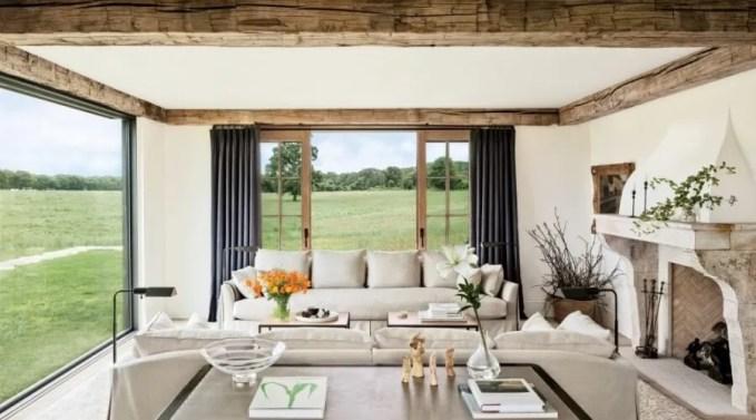 Bright Farmhouse Inspired Living Room