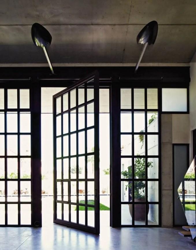 Concrete Ceiling For Contemporary Living Room
