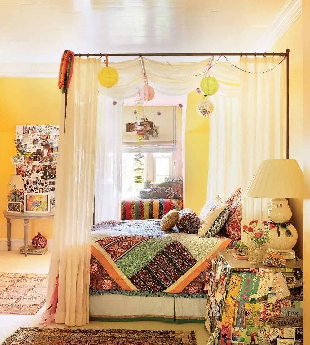 8 Bohemian Chic Teen Girl's Bedroom Ideas - https ... on Boho Bedroom  id=86673