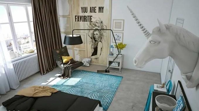 Cool Teen Girl Unicorn Bedroom