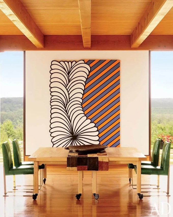 Tall Colorful Dining Room