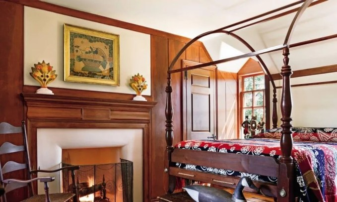 Wood Paneled Farmhouse Bedroom