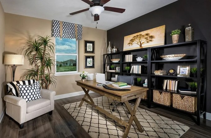 Contemporary Exotic Home Office