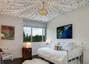 10 Vaulted Ceiling Designs in Kid's Bedroom
