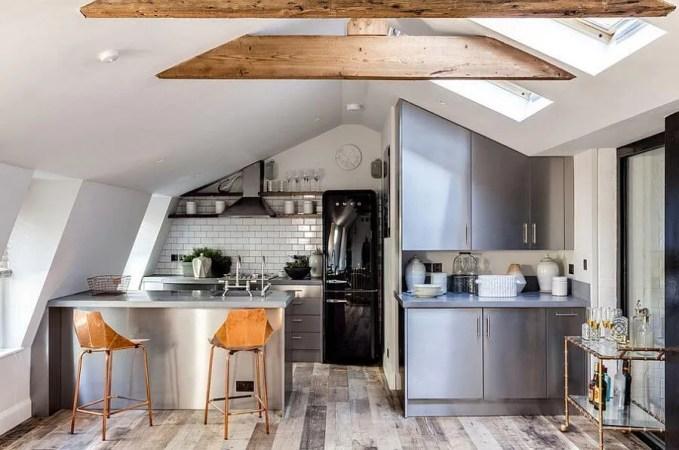 Attic Contemporary Industrial Kitchen Design