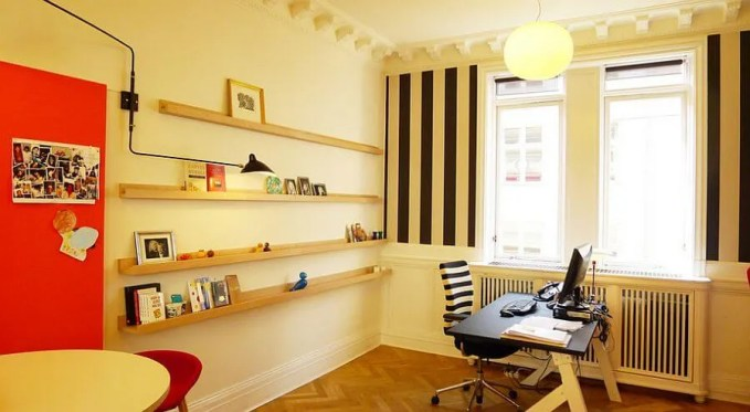 Colorful and Stylish Home Office