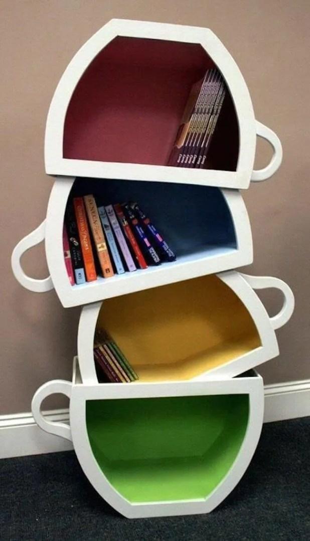 Cups Bookshelf