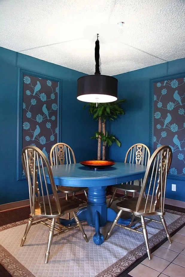 Charming  Blue Dining Room