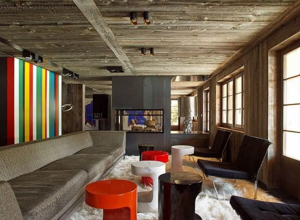 Colorful Vertical Striped Wall