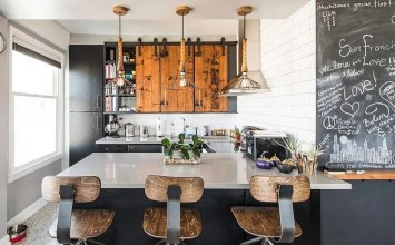 8 Contemporary Black and White Kitchen Design Ideas