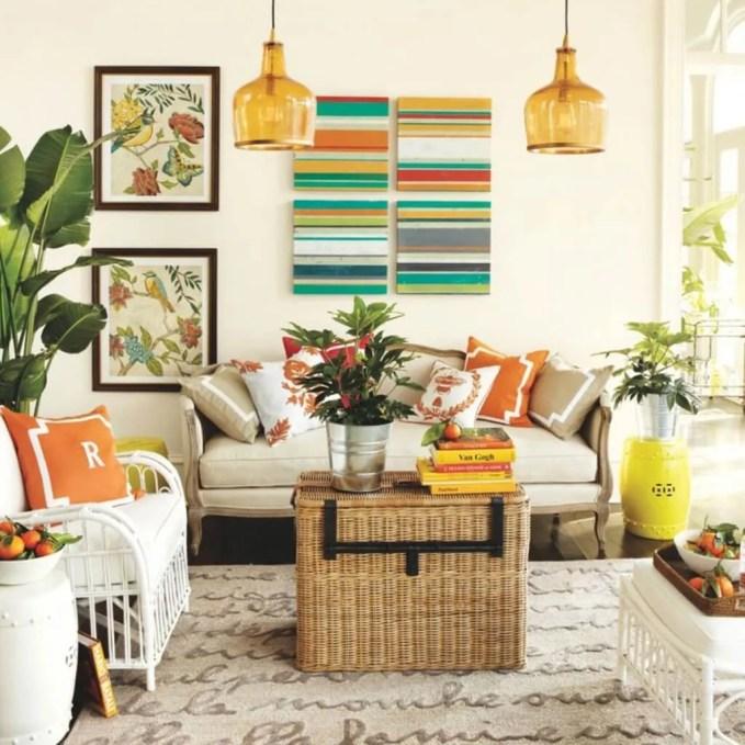 Small Charming Summer Living Room
