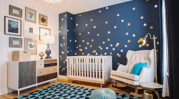 Trendy Blue Nursery