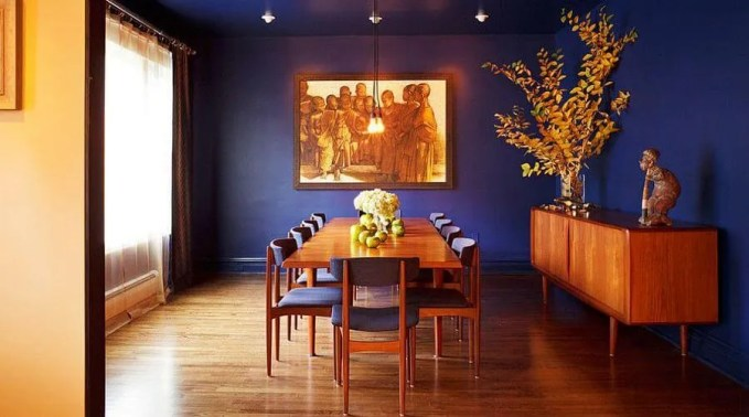 Ultra Marine Blue Dining Room