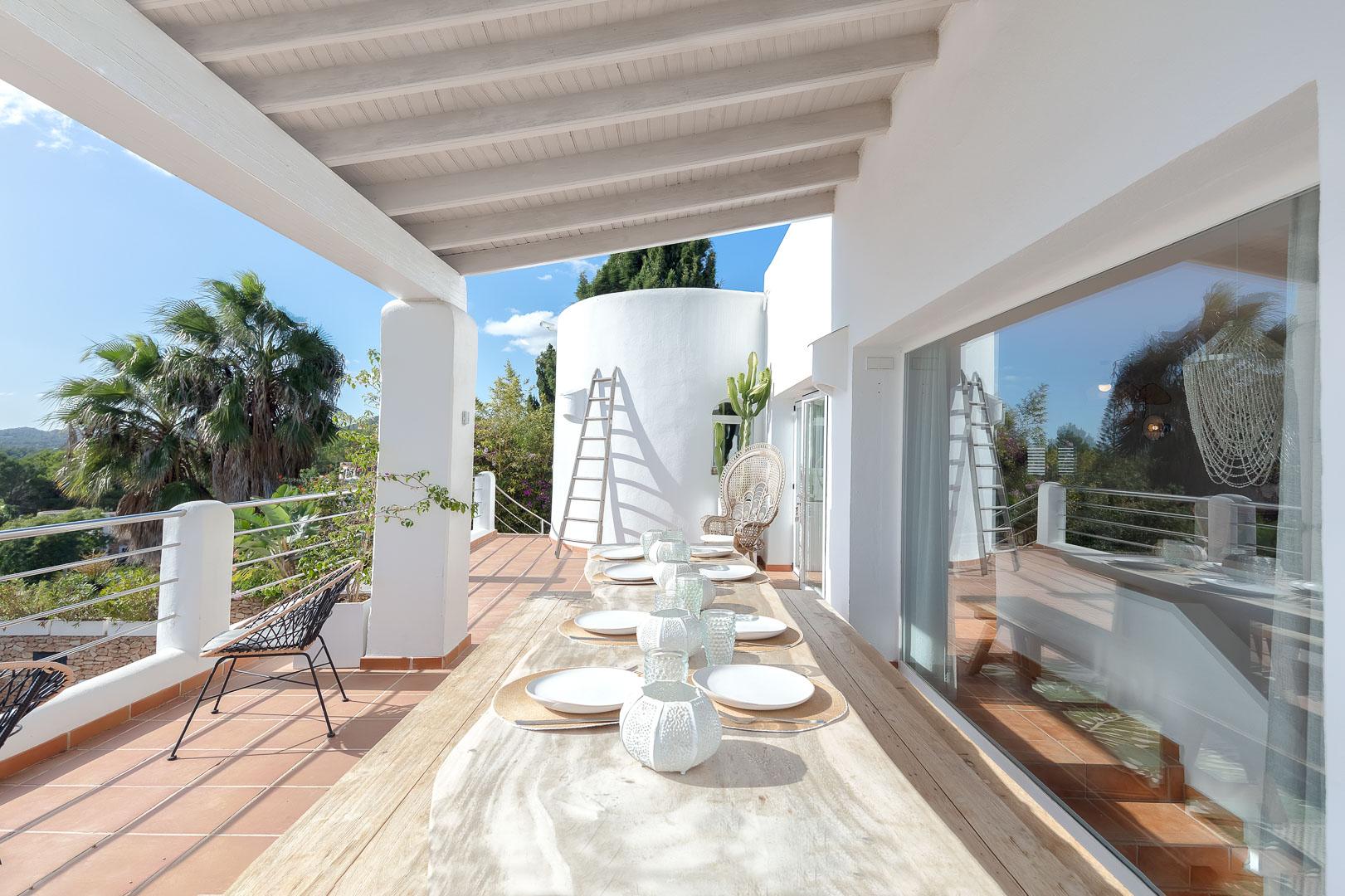 fotografía exterior villa payesa del comedor en Ibiza