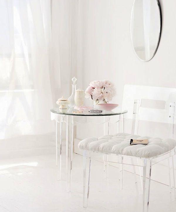 Transparante meubels
