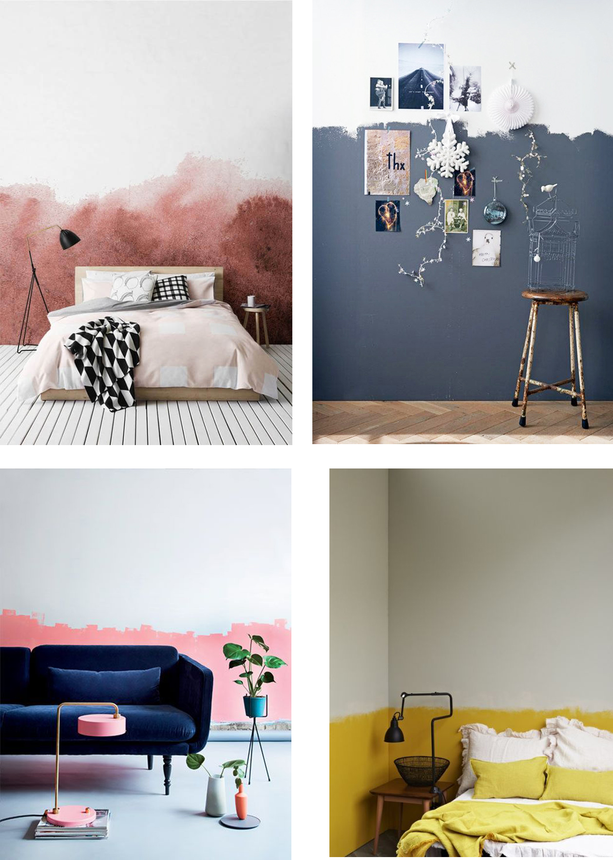 Color Idea Half Painted Walls Interior Notes