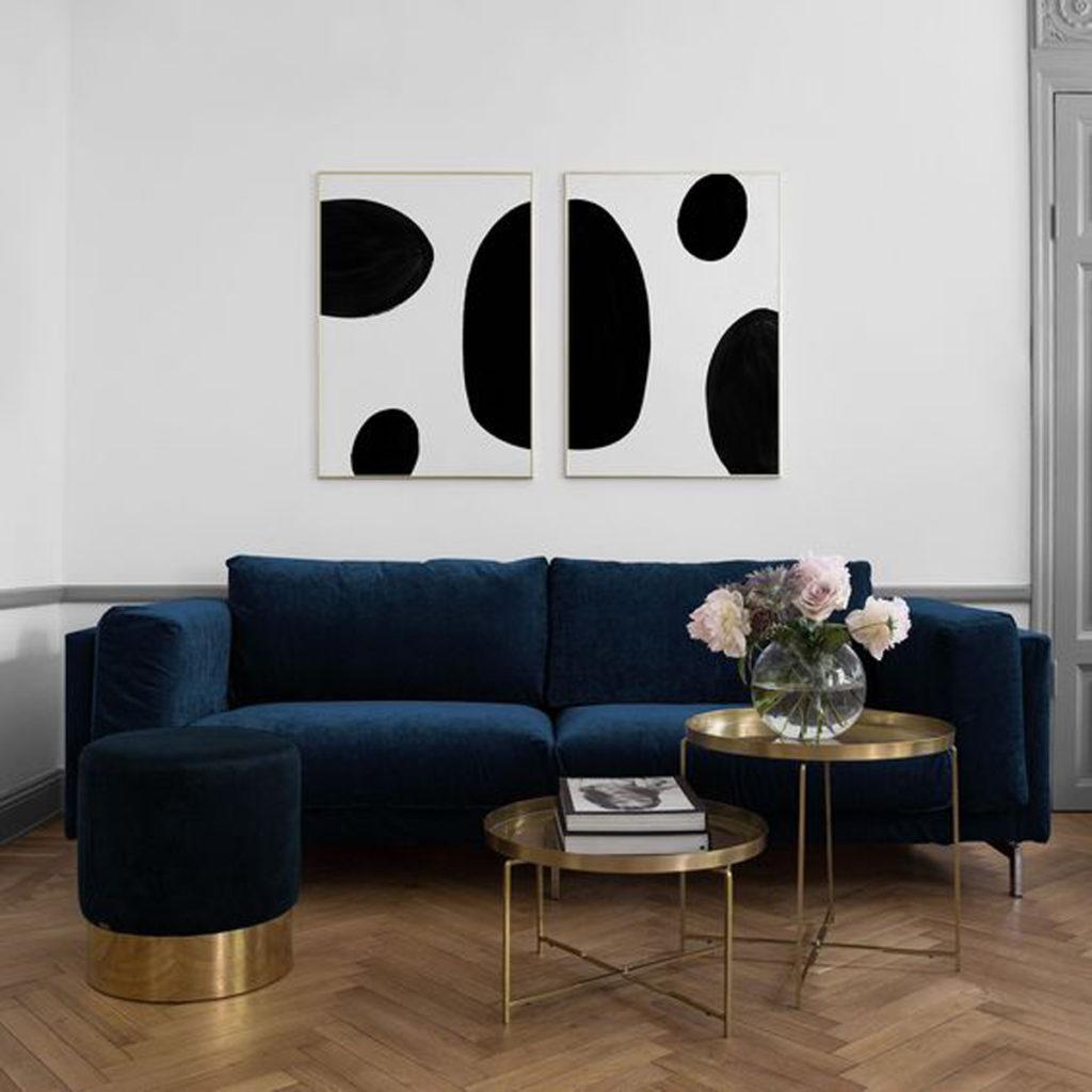 A Blue Velvet Sofa Interior Notes