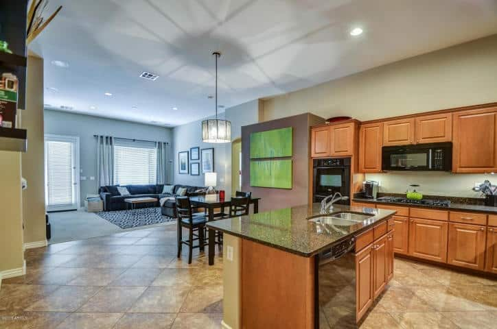 Chandler Home Staging   Chandler  AZ   Interior Preference LLC Open view to Family Breakfast Kitchen areas
