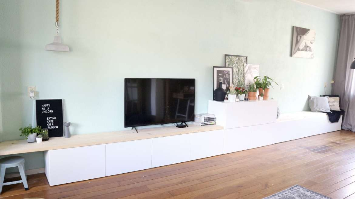 Tv Meubel Dressoir Kast.Ikea Besta Hack Ikea Besta 2 In 1 Zitbank Tv Meubel